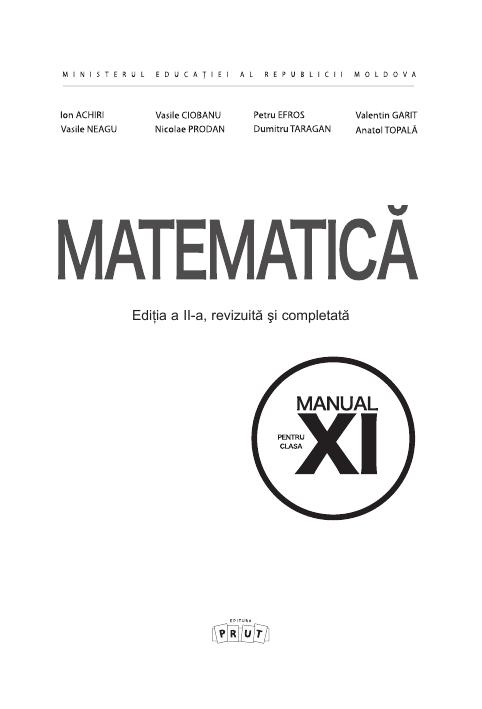 Matematica (in limba romana) 11