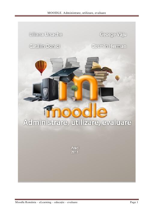 Carte Moodle - Administrare, utilizare, evaluare
