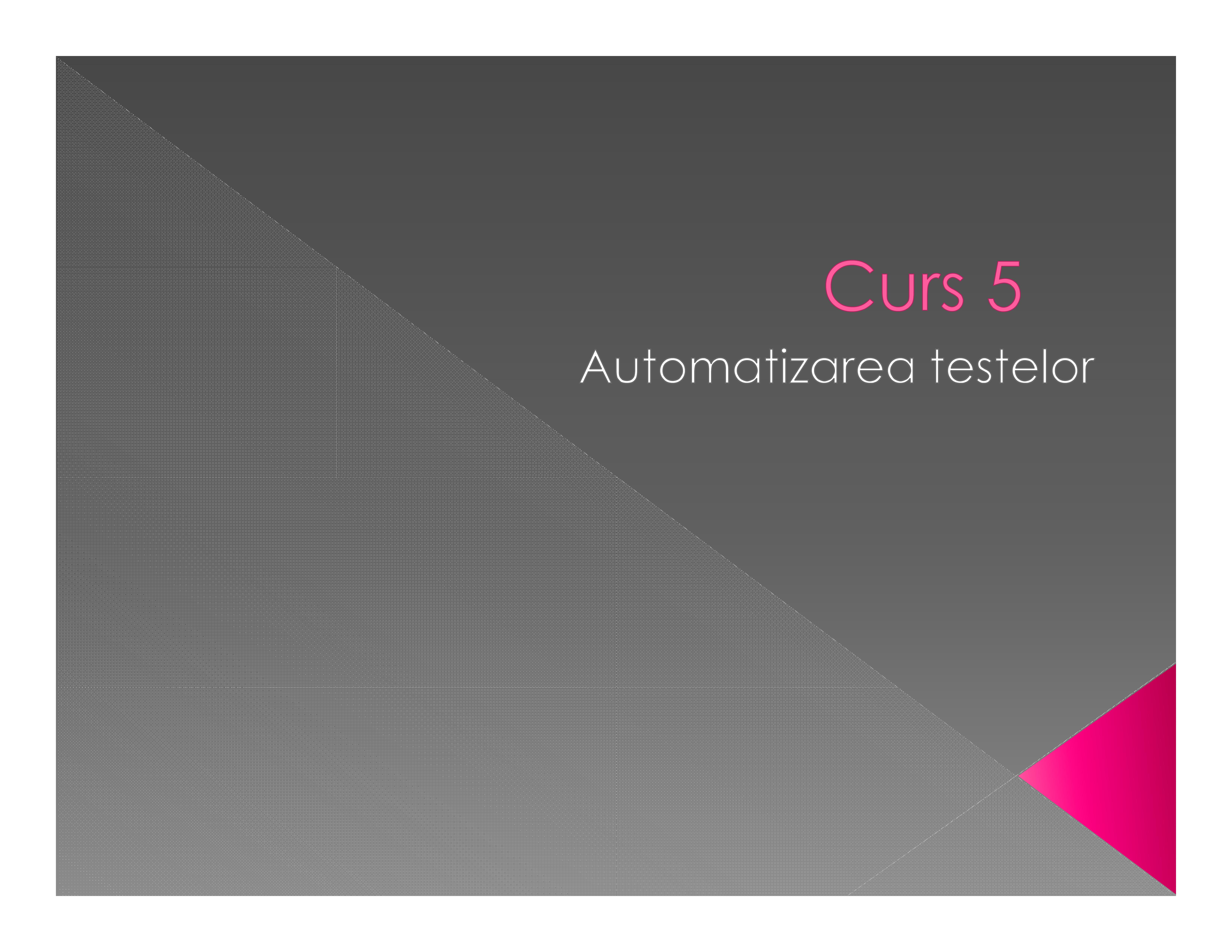 Automatizarea testelor