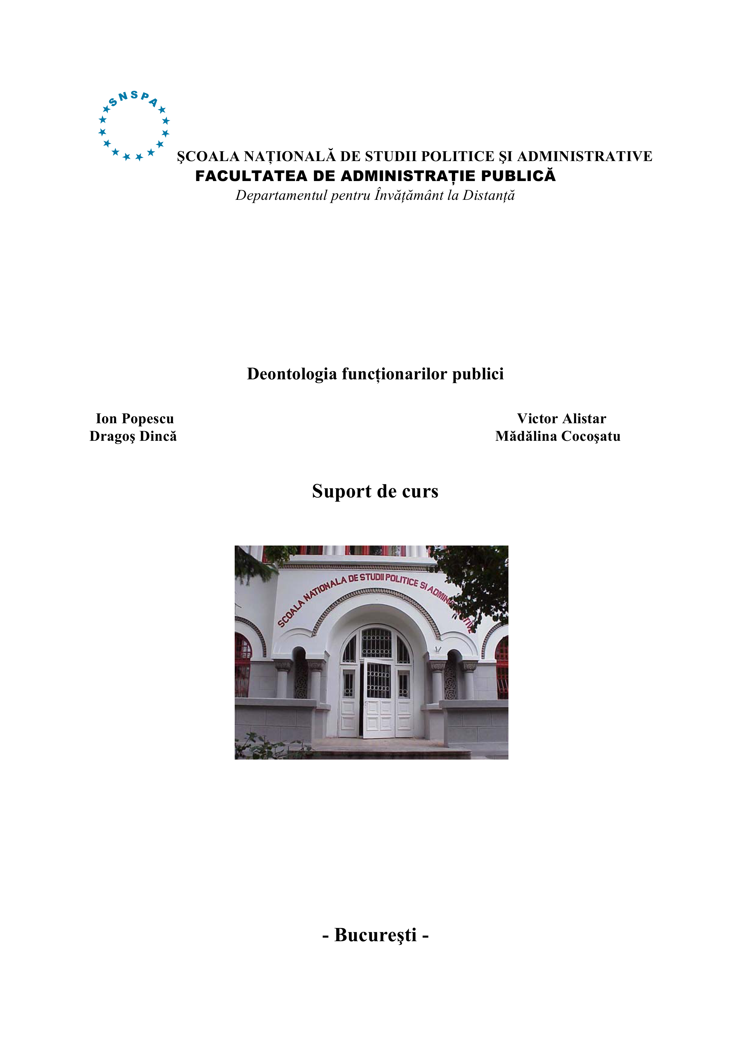 Deontologia funcţionarilor publici