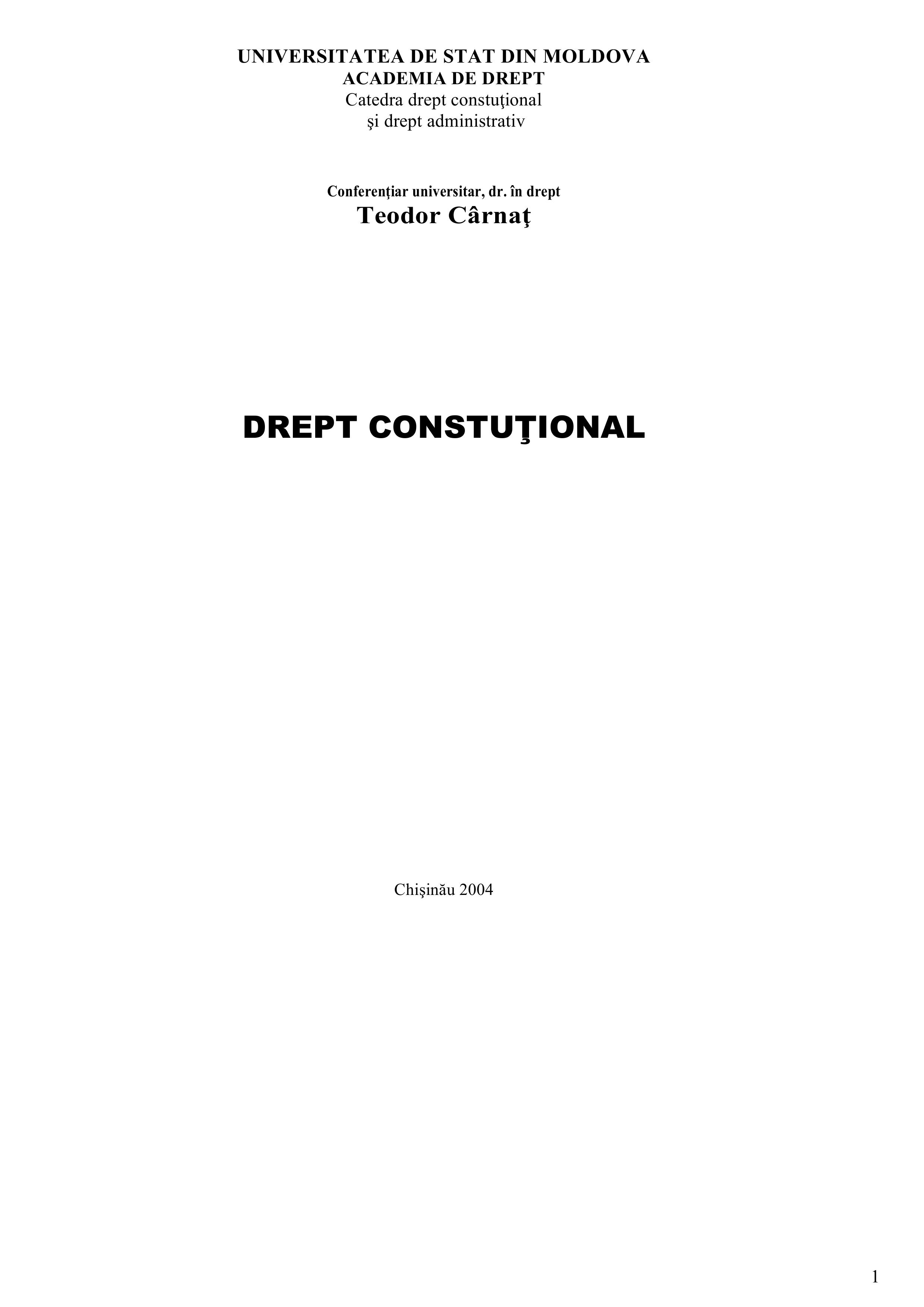 Dreptul constituțional