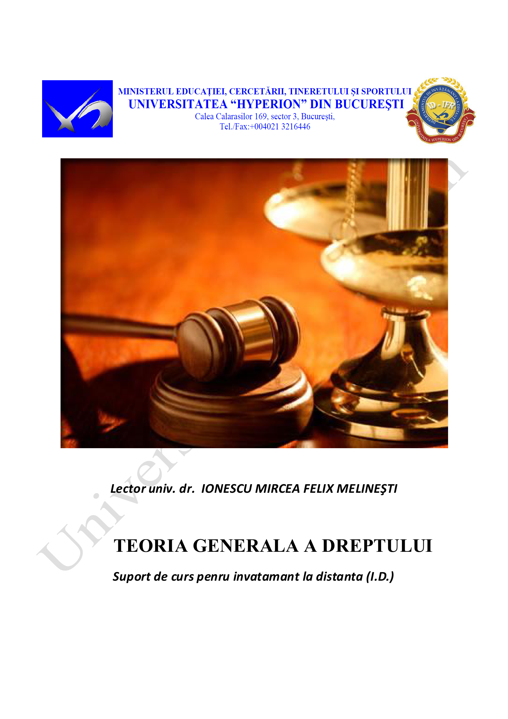 Teoria Generala a Dreptului