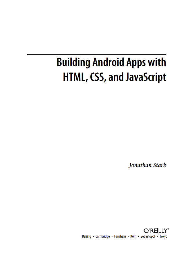 Building Android Apps with HTML, CSS and JavaScript