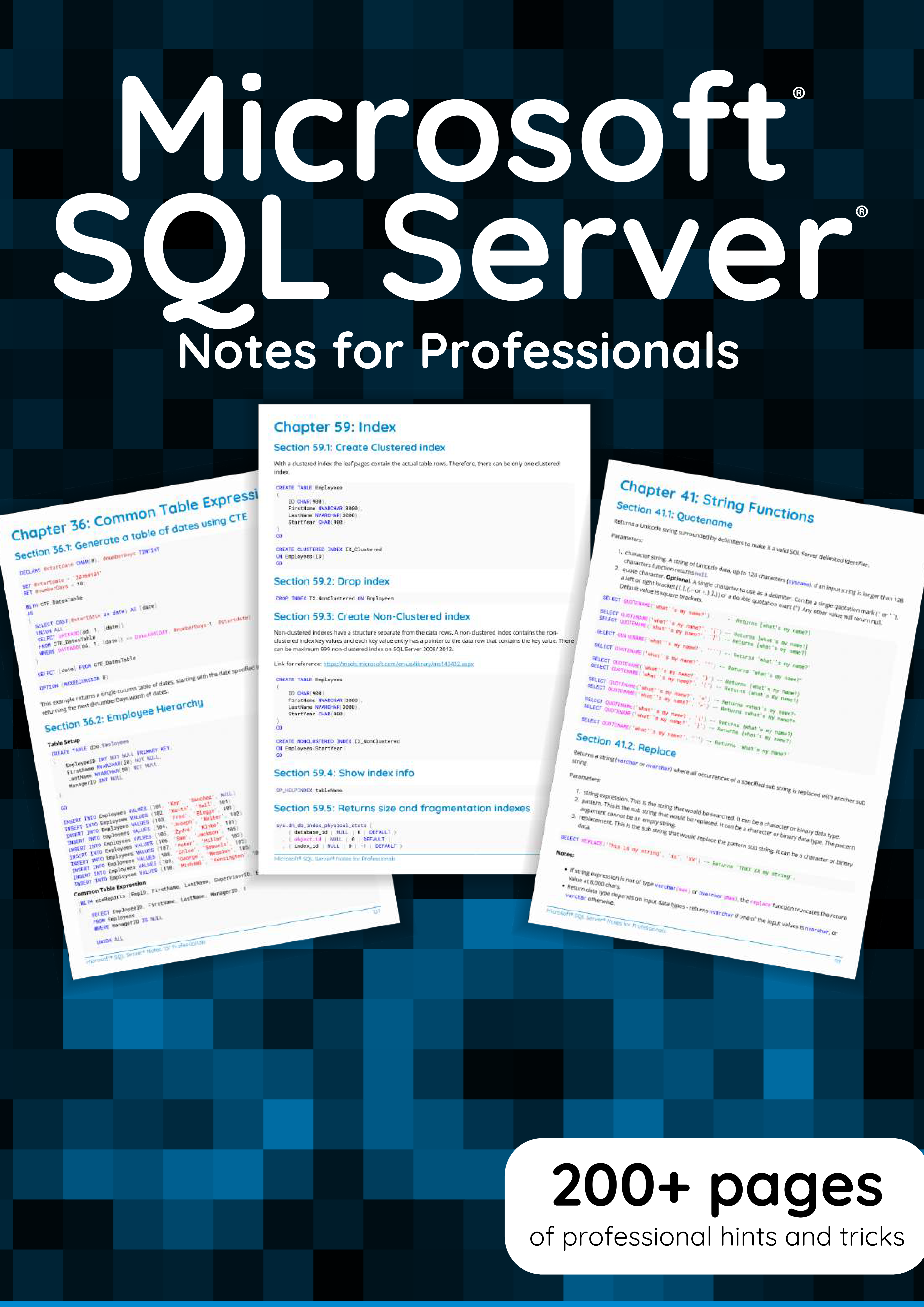 Microsoft SQLServer notes for professionals book