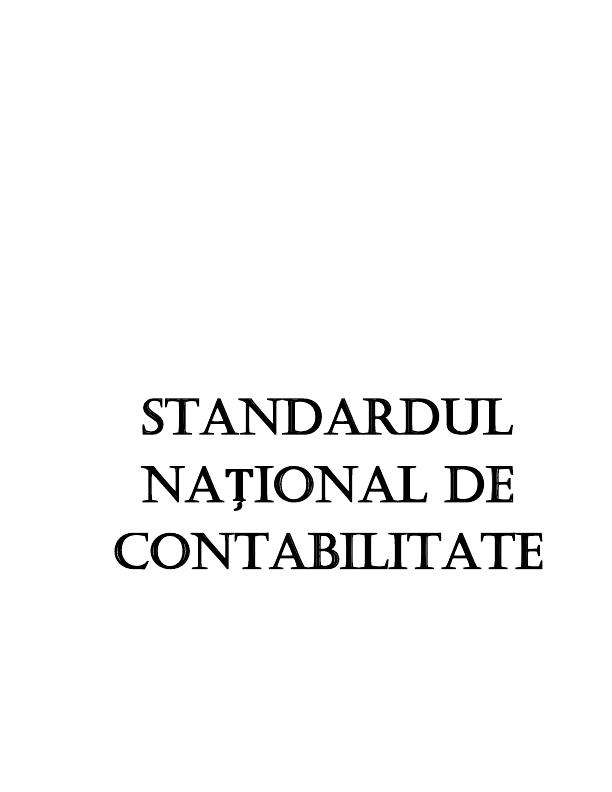 """Standardul național de contabilitate """"Capital propriu și datorii"""""""