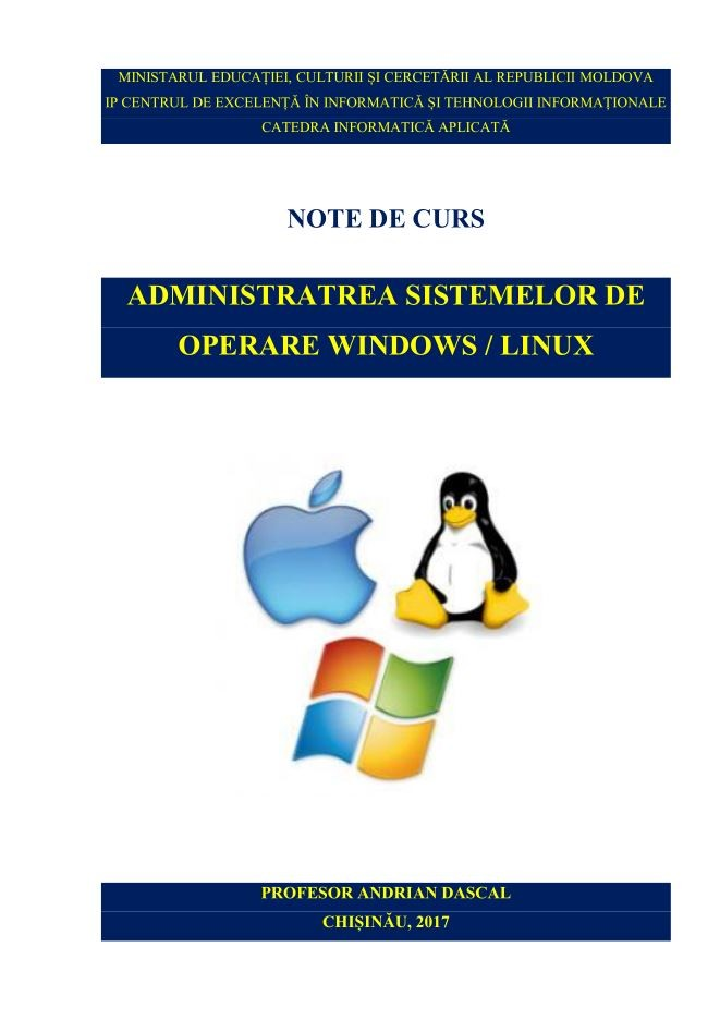 Administrarea sistemelor de operare Windows / Linux