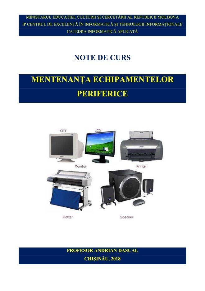Mentenanța echipamentelor periferice